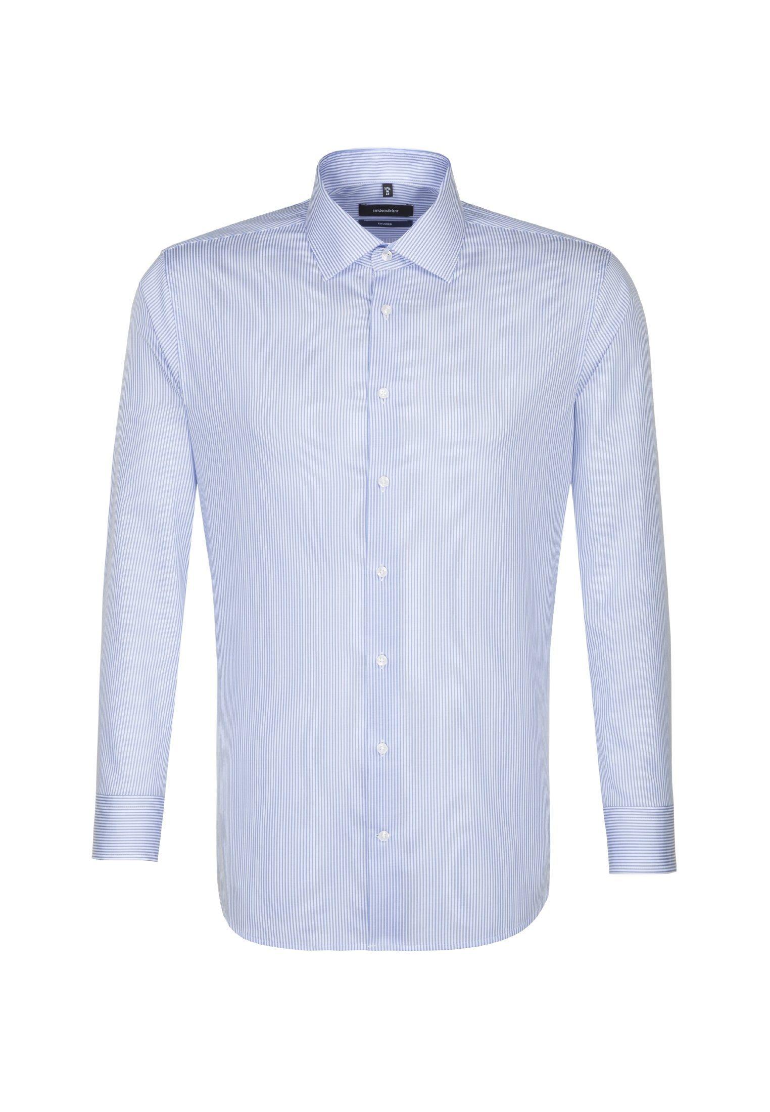seidensticker Businesshemd »Tailored« Tailored Extra kurzer Arm Kent-Kragen Streifen