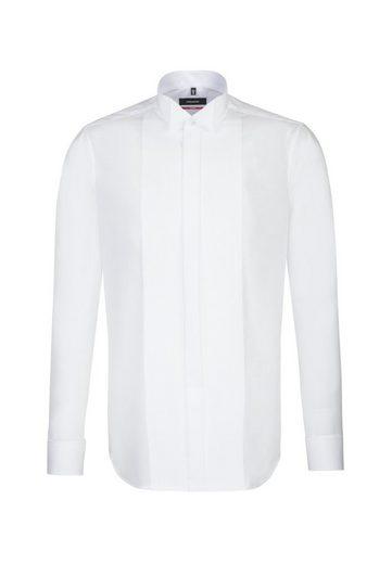 seidensticker Smokinghemd »Regular« Regular Langarm Kläppchenkragen Uni