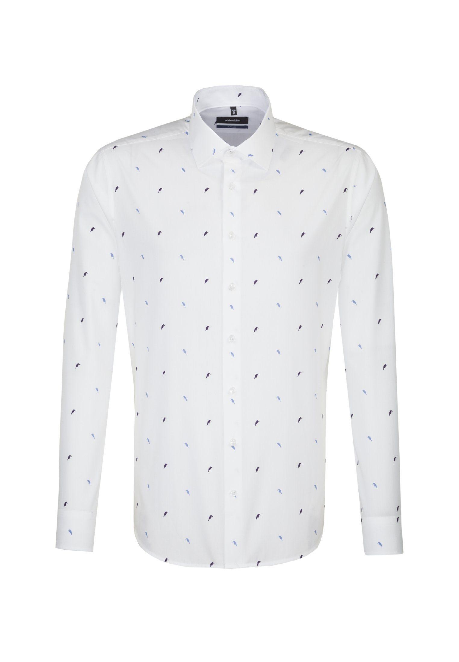 seidensticker Businesshemd »Tailored« Tailored Langarm Kentkragen Print, Kragen: Business Kent online kaufen | OTTO