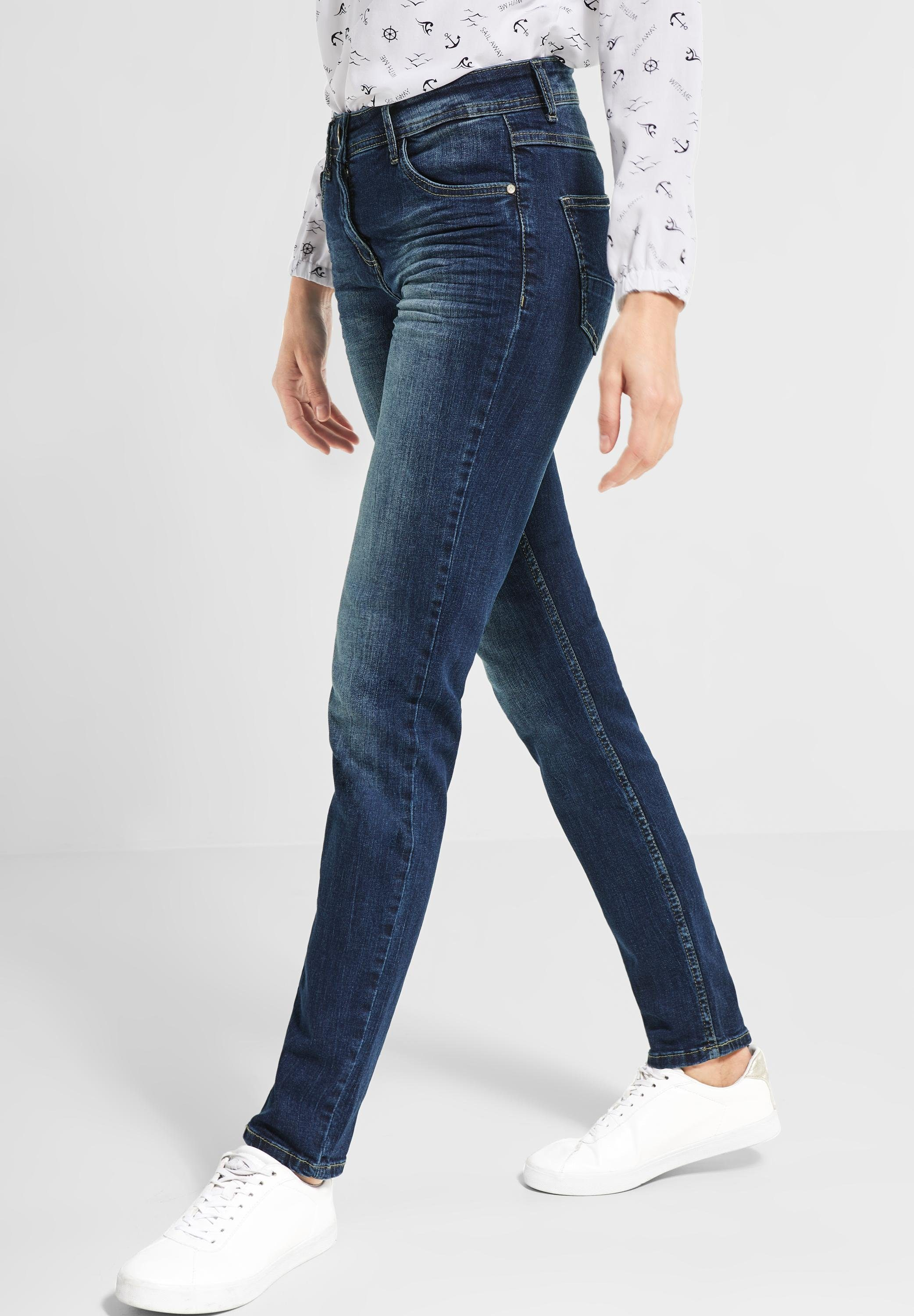 Cecil Regular-fit-Jeans im formstabilen Materialmix