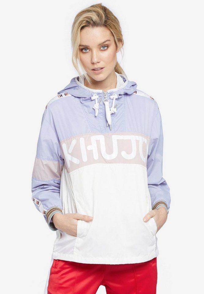 khujo Nylonjacke »ELIANA« (1-tlg) mit Kängurutasche | Bekleidung > Jacken > Nylonjacken | Weiß | khujo