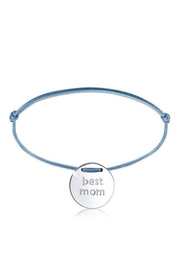 Elli Armband »Wording Muttertag Best Mom Nylon Trend 925 Silber«