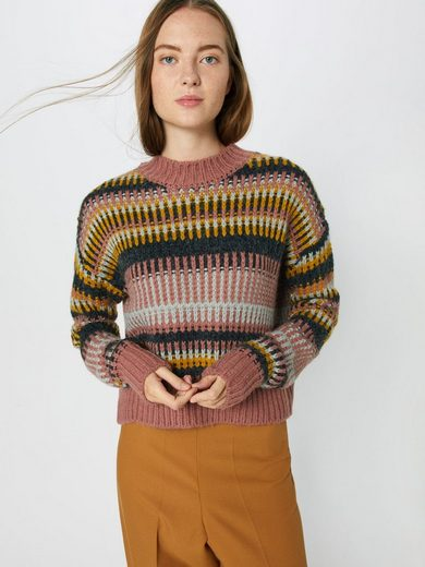 Review Rot Chunky« »graphic Stehkragenpullover E2YDWHeI9