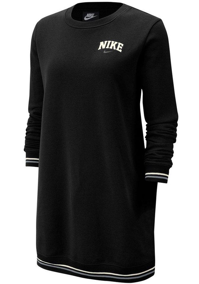 Nike Sportswear Sweatkleid »W NSW DRESS LS FLC VRSTY« | Sportbekleidung > Sportkleider | Schwarz | Nike Sportswear