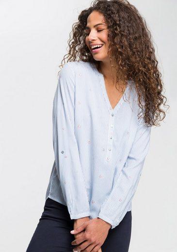 Esprit Hemdbluse mit dezentem Alloverprint