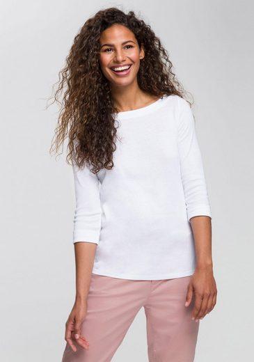 Esprit Langarmshirt mit modischem Umschlagsaum