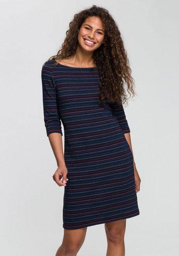 Esprit Jerseykleid mit strukturiertem Streifenmuster