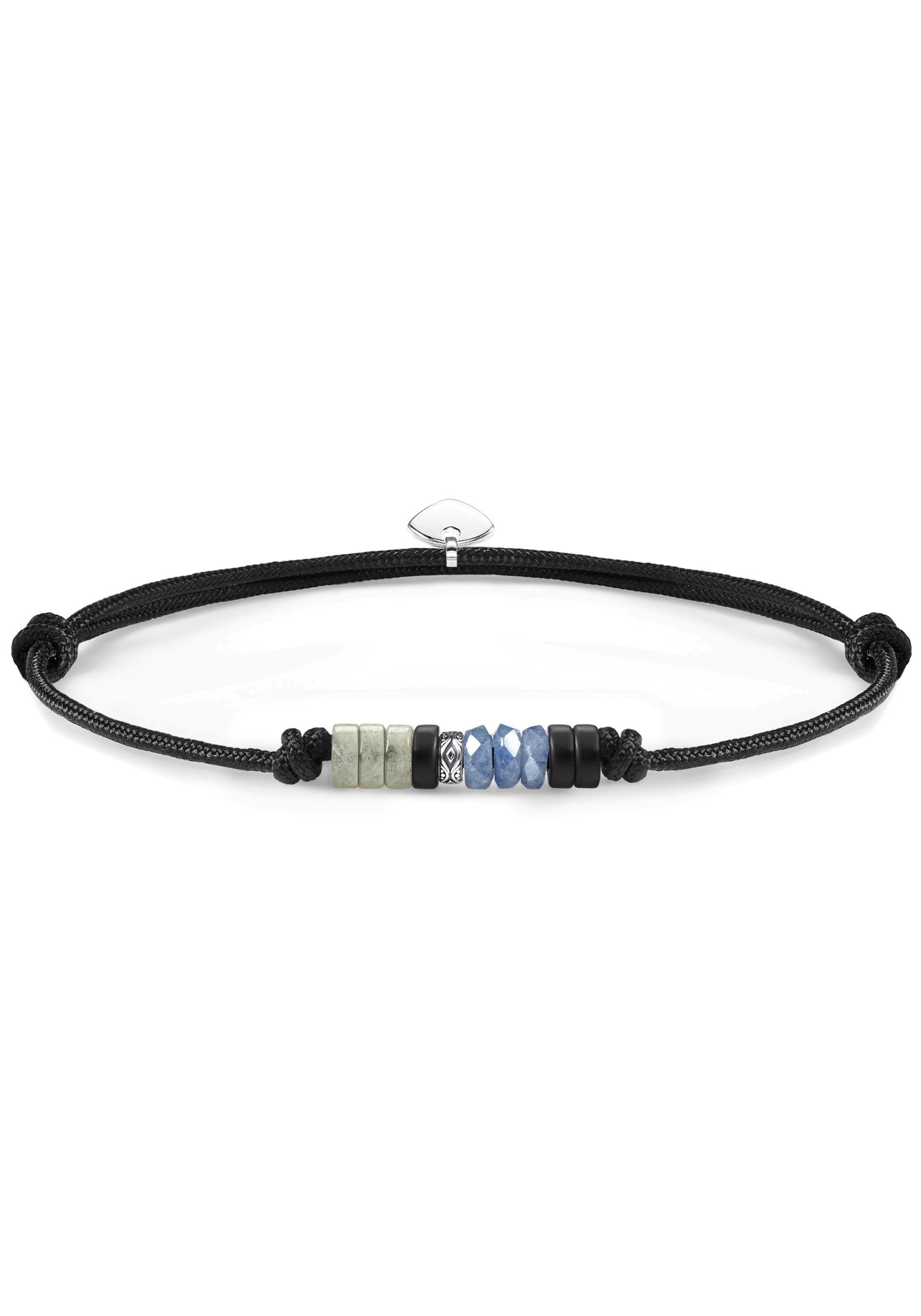 THOMAS SABO Armband »Little Secret Ethno, LS090-811-7-L22v« mit Obsidian, Dumortierit und Labradorit