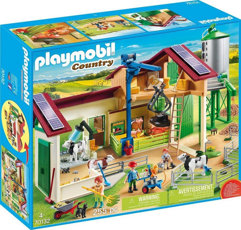 playmobil® konstruktionsspielset »großer bauernhof mit