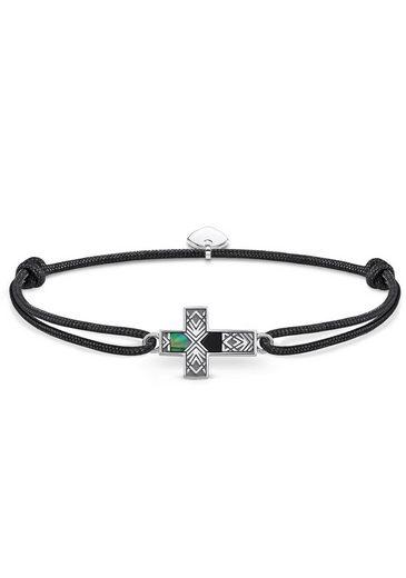 THOMAS SABO Armband »Little Secret Kreuz Abalone Perlmutt, LS083-482-11-L22v«, mit Onyx und Perlmutt