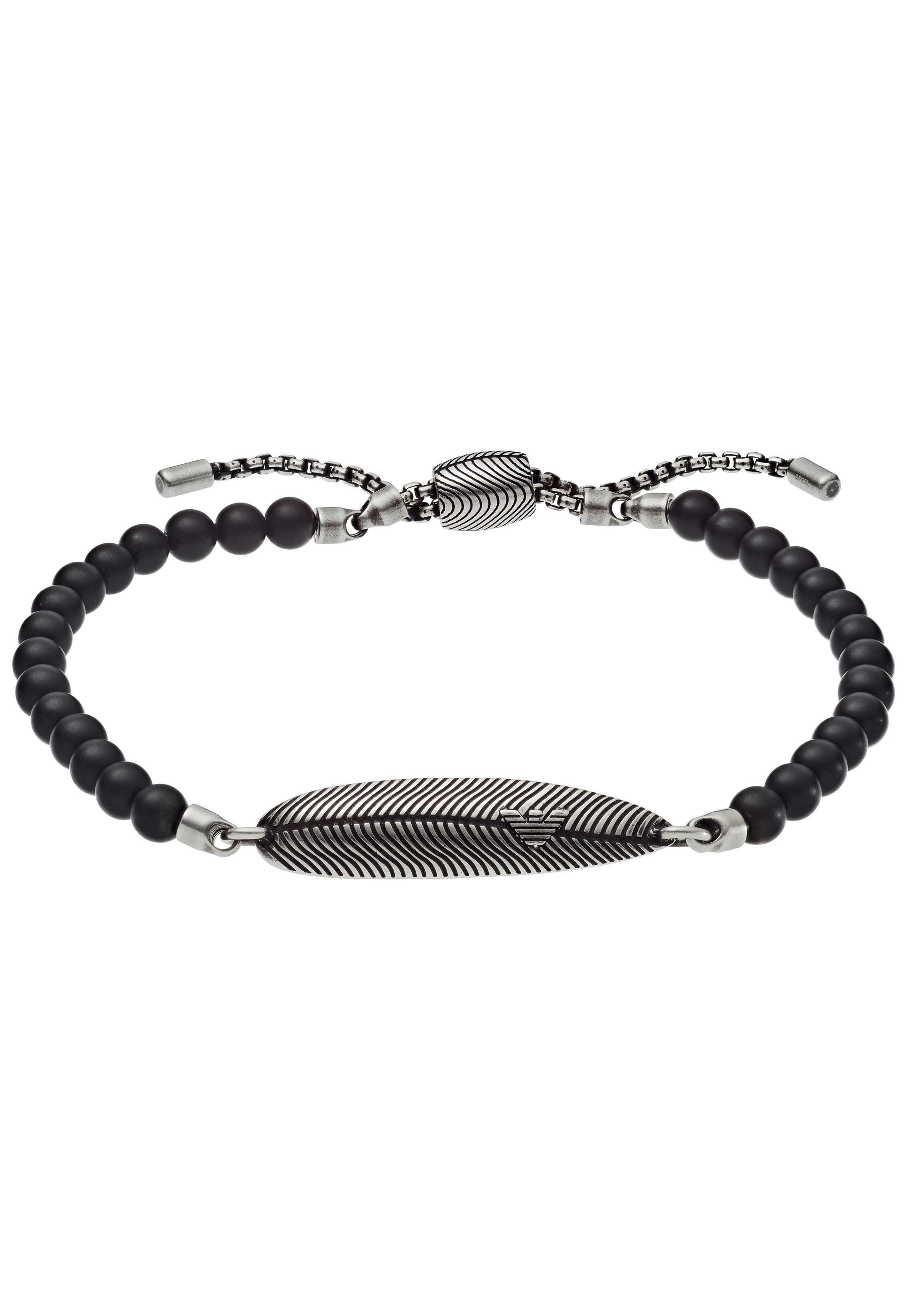 Emporio Armani Armband »Feder, EGS2610040« mit Onyx