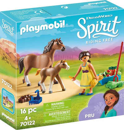 Playmobil® Konstruktions-Spielset »Pru mit Pferd und Fohlen (70122), Spirit Riding Free«, (16 St), Made in Europe