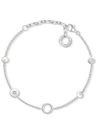 THOMAS SABO Charm-Armband »Perlen, X0273-167-14-L19v«, mit Süßwasserzuchtperlen und Zirkonia