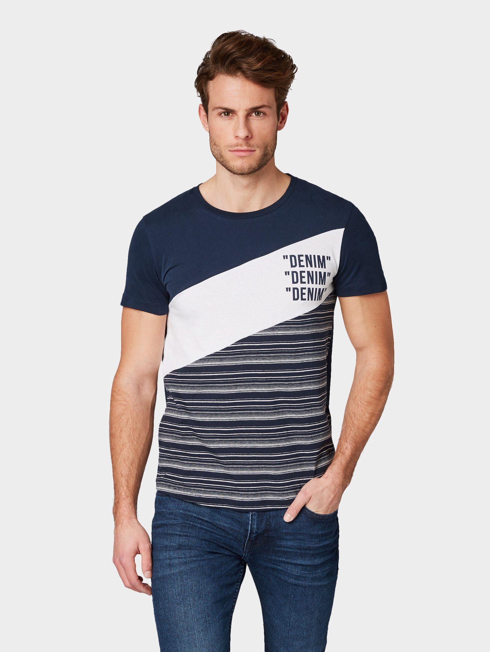 TOM TAILOR Denim T-Shirt »Gestreiftes T-Shirt«