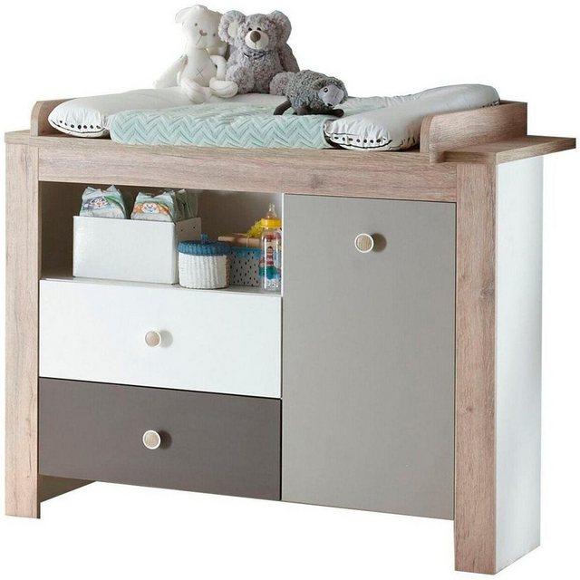 Babyzimmer - Babyzimmer Komplettset »Madrid«, (3 tlg) Bett Wickelkommode 3 trg. Kleiderschrank  - Onlineshop OTTO