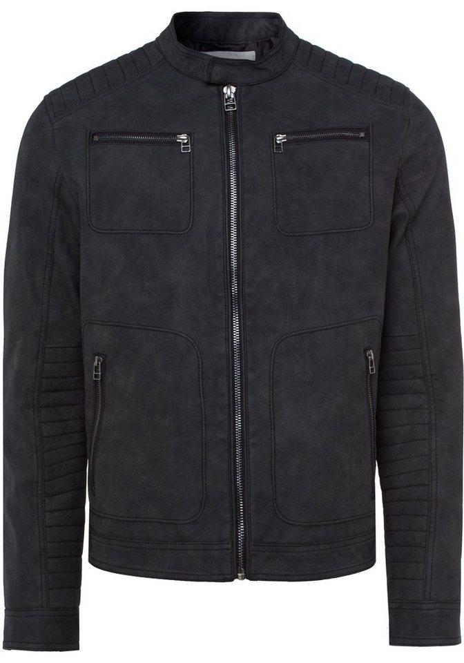Esprit Bikerjacke mit modischen Ziersteppungen   Bekleidung > Jacken > Bikerjacken   Schwarz   Esprit