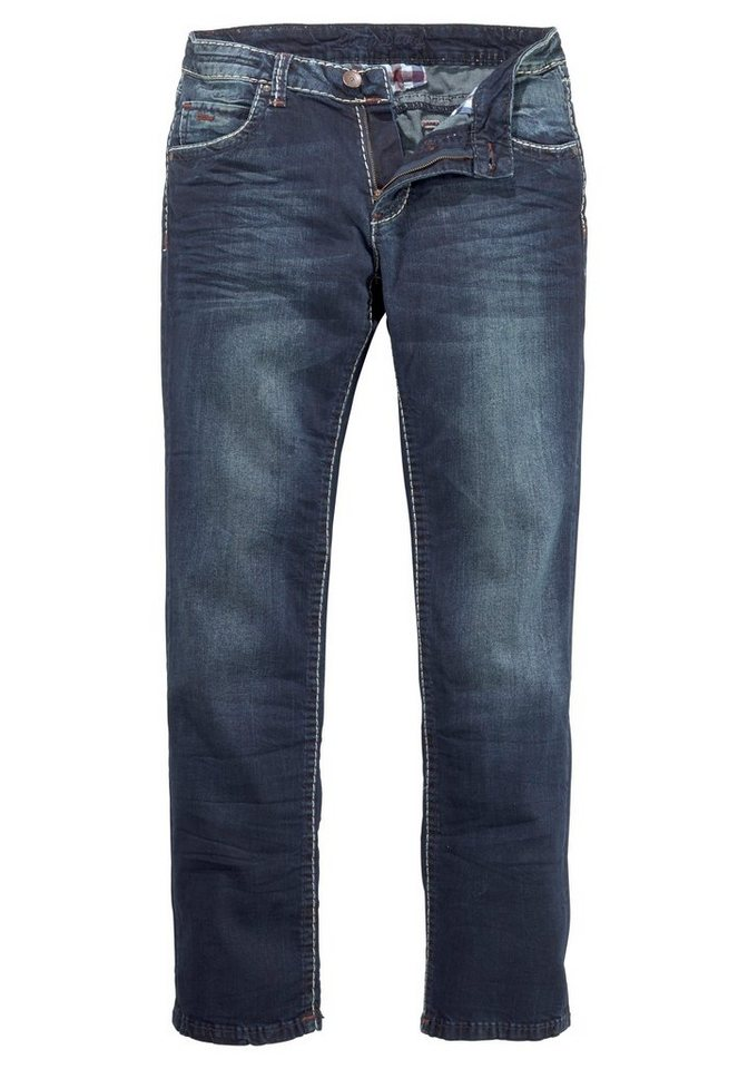 CAMP DAVID Straight-Jeans »NI:CO:R611« | Bekleidung > Jeans > Straight Leg Jeans | Blau | CAMP DAVID