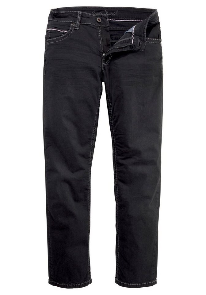 CAMP DAVID Loose-fit-Jeans »CO:NO:C622« mit markanten Nähten | Bekleidung > Jeans > Loose Fit Jeans | Schwarz | Denim | CAMP DAVID