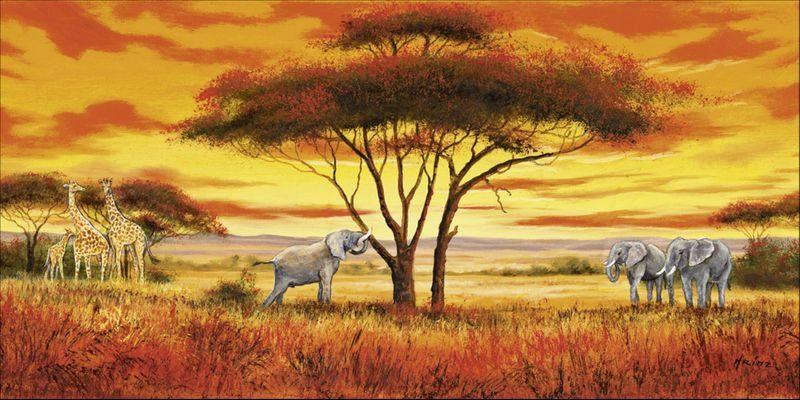 Artland Wandfolie »A. Heins: Afrikanische Landschaft II«