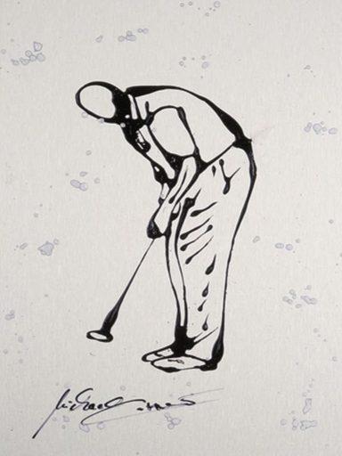 Artland Wandfolie »Michael Öffler: Golfer II«