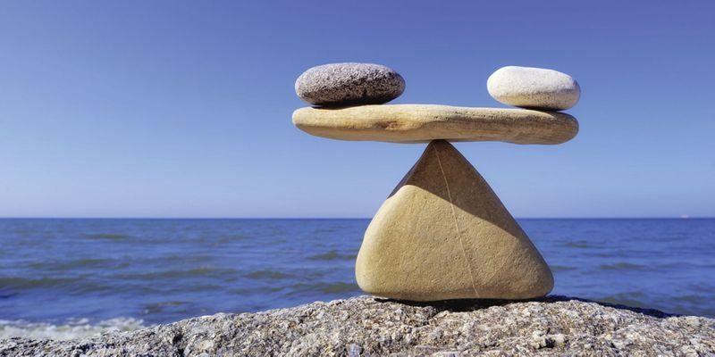 Artland Wandfolie »Styf: Gleichgewicht - Steine Meer«