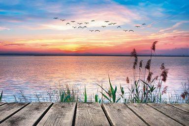 Artland Wandfolie »Kesipun: Der See in den Farben der Wolken«