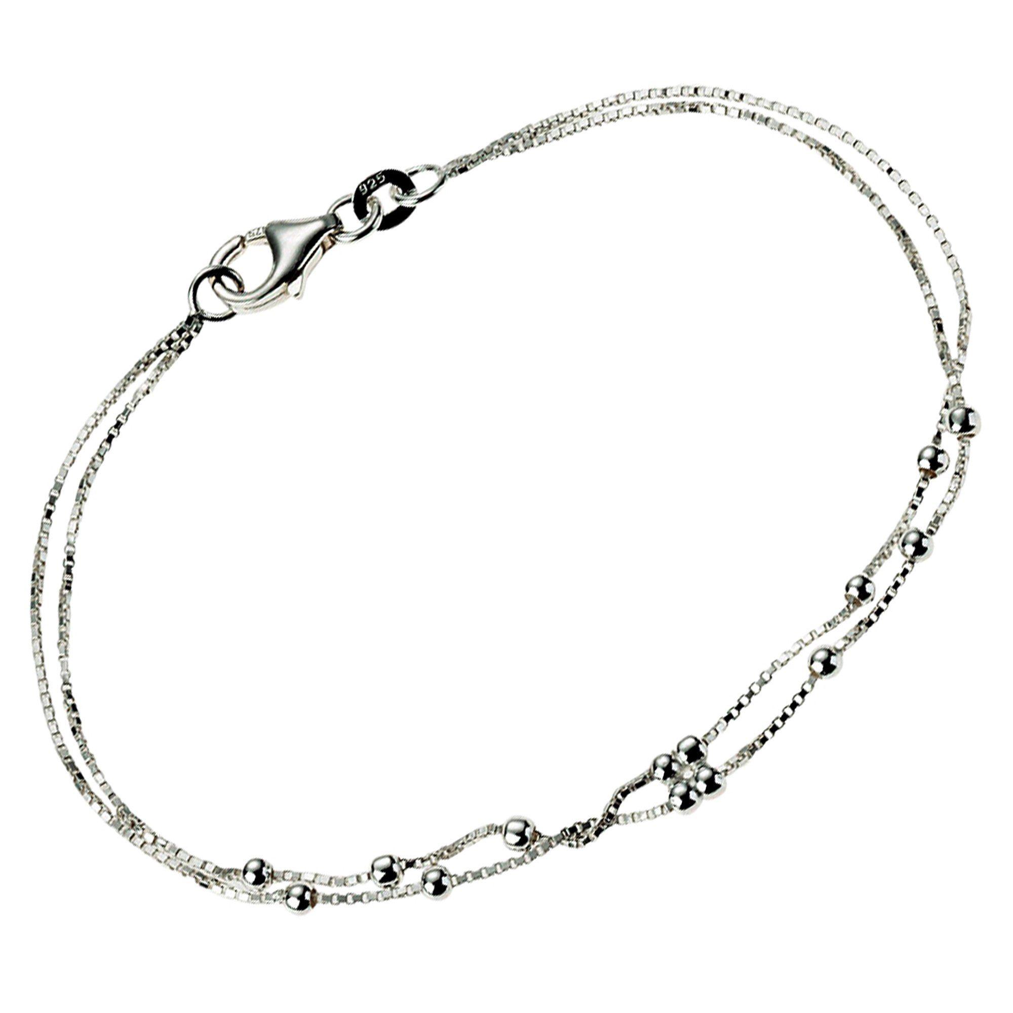 VIVANCE Armband »925/- Sterling Silber zweireihig«