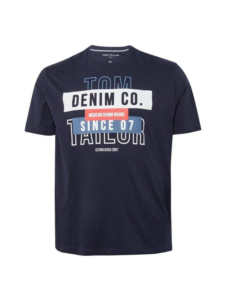 Herren TOM TAILOR Denim  T-Shirt T-shirt mit Print blau | 04061945493773