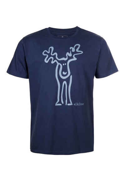 Elkline T-Shirt »Rudolf« Retro Elch Brust und Rücken Print