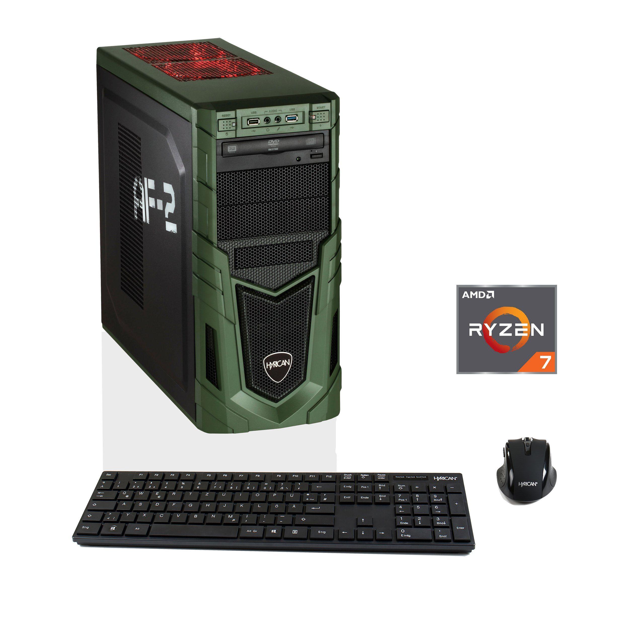 HYRICAN Gaming PC Ryzen™ 5 2600, 16GB, SSD + HDD, AMD RX 580 »MilitaryGaming 6253«