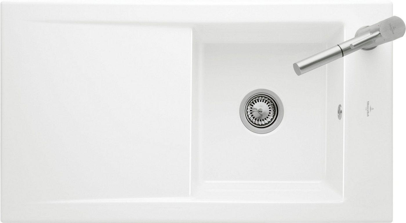 Villeroy & Boch Einbauspüle »Timeline 50« mit Abtropffläche, 90 cm breit | Küche und Esszimmer > Spülen > Einbauspülen | Weiß | Villeroy & Boch