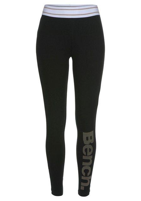 Hosen - Bench. Leggings mit gestreiftem Wäschebund und Logodruck ›  - Onlineshop OTTO