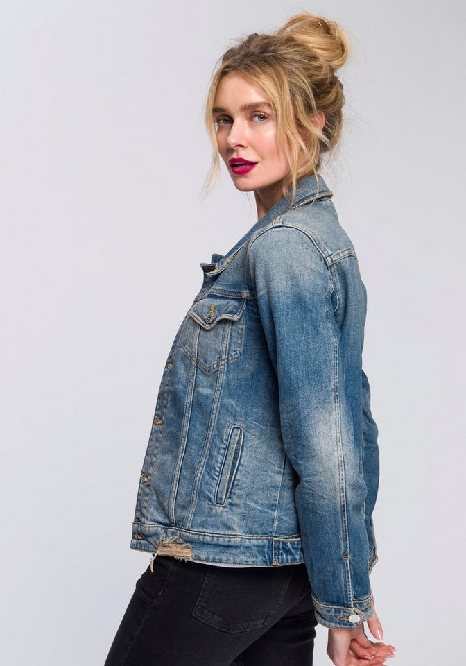 94b94a0f037334 Tommy Jeans Outdoorjacke »REGULAR TRUCKER JACKET USDRG« online ...