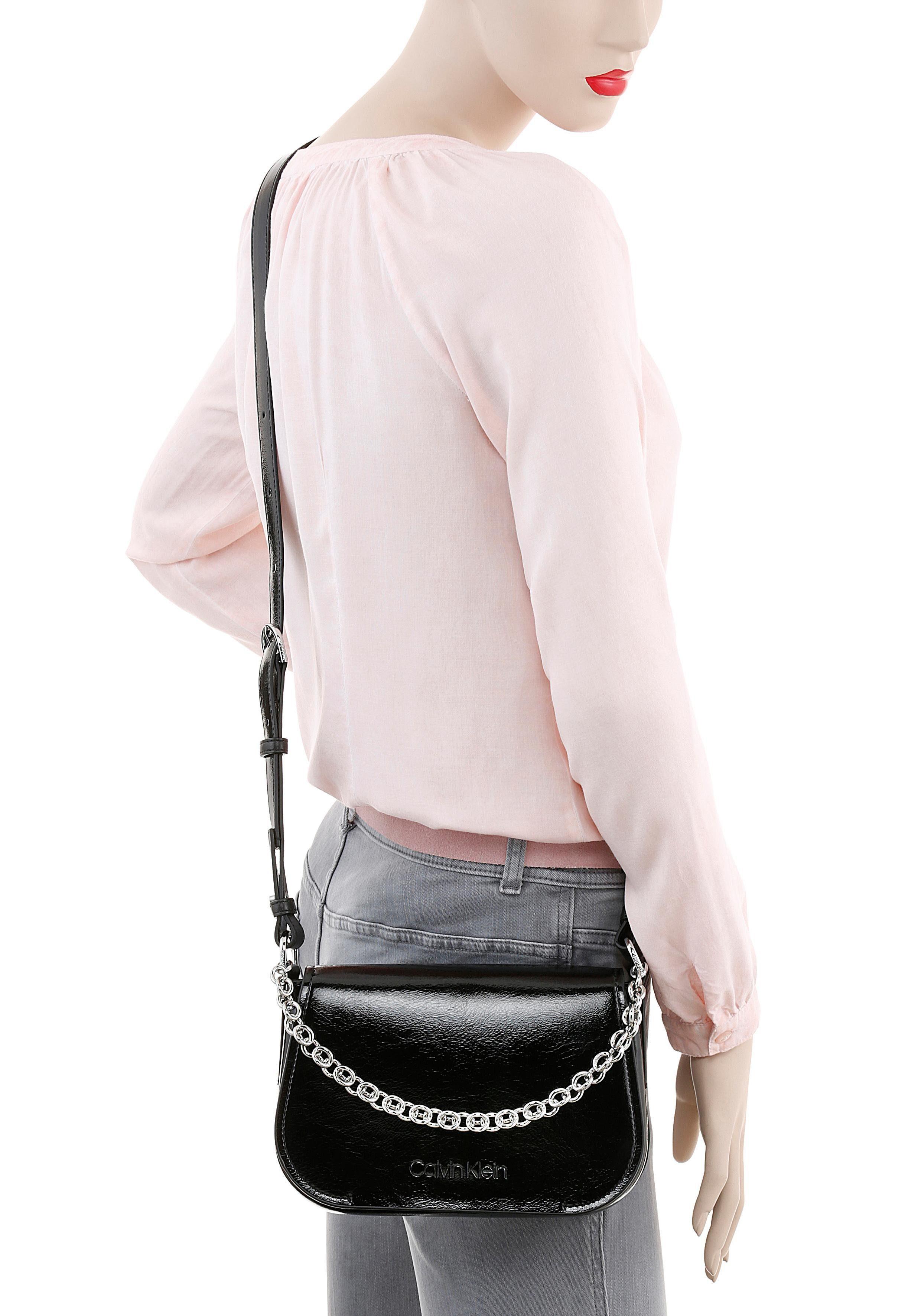 Shoulder Up Calvin »dressed Umhängetasche Bag« Silberfarbenen Klein Mit Kettendetails qwqtIO7S