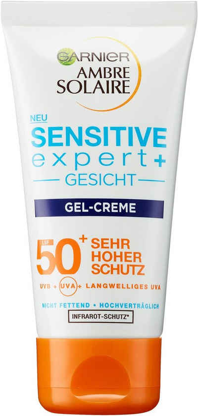 GARNIER Sonnenschutzcreme »Ambre Solaire Sensitive expert+ LSF 50+«