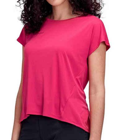 Mammut Blusentop »MAMMUT Pali Cropped T-Shirt raffiniert geschnittenes Kletter-Shirt aus Vier-Wege-Stretch Sport-Shirt Pink«