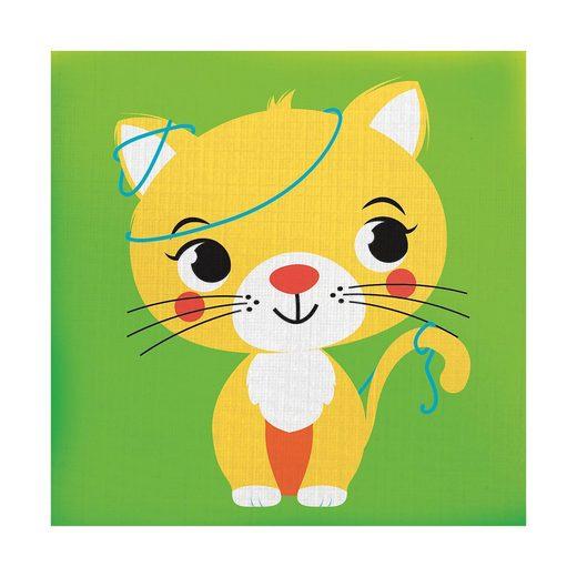 YoYo Books Drück mich: Die Katze, Stoffbilderbuch
