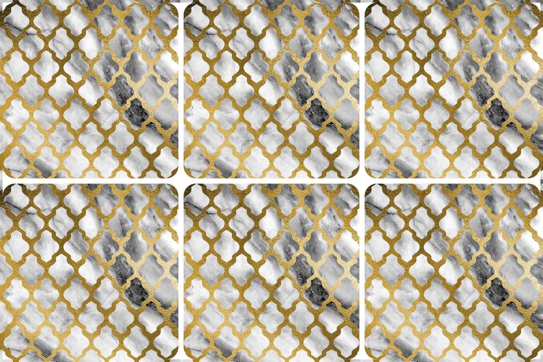 queence Getränkeuntersetzer GC0119-K4, Set, 6-tlg., aus Kunststoff