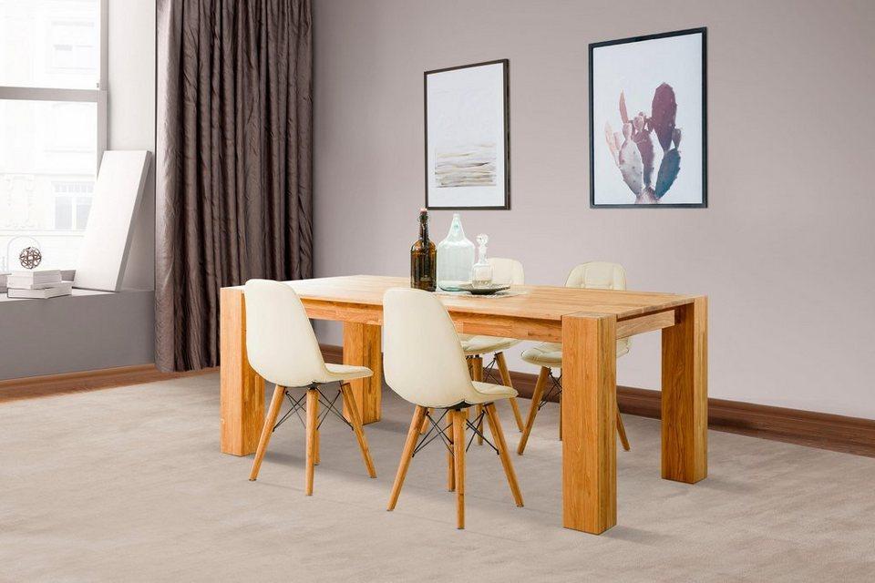 home affaire essgruppenset juna bestehend aus 4 st hlen. Black Bedroom Furniture Sets. Home Design Ideas