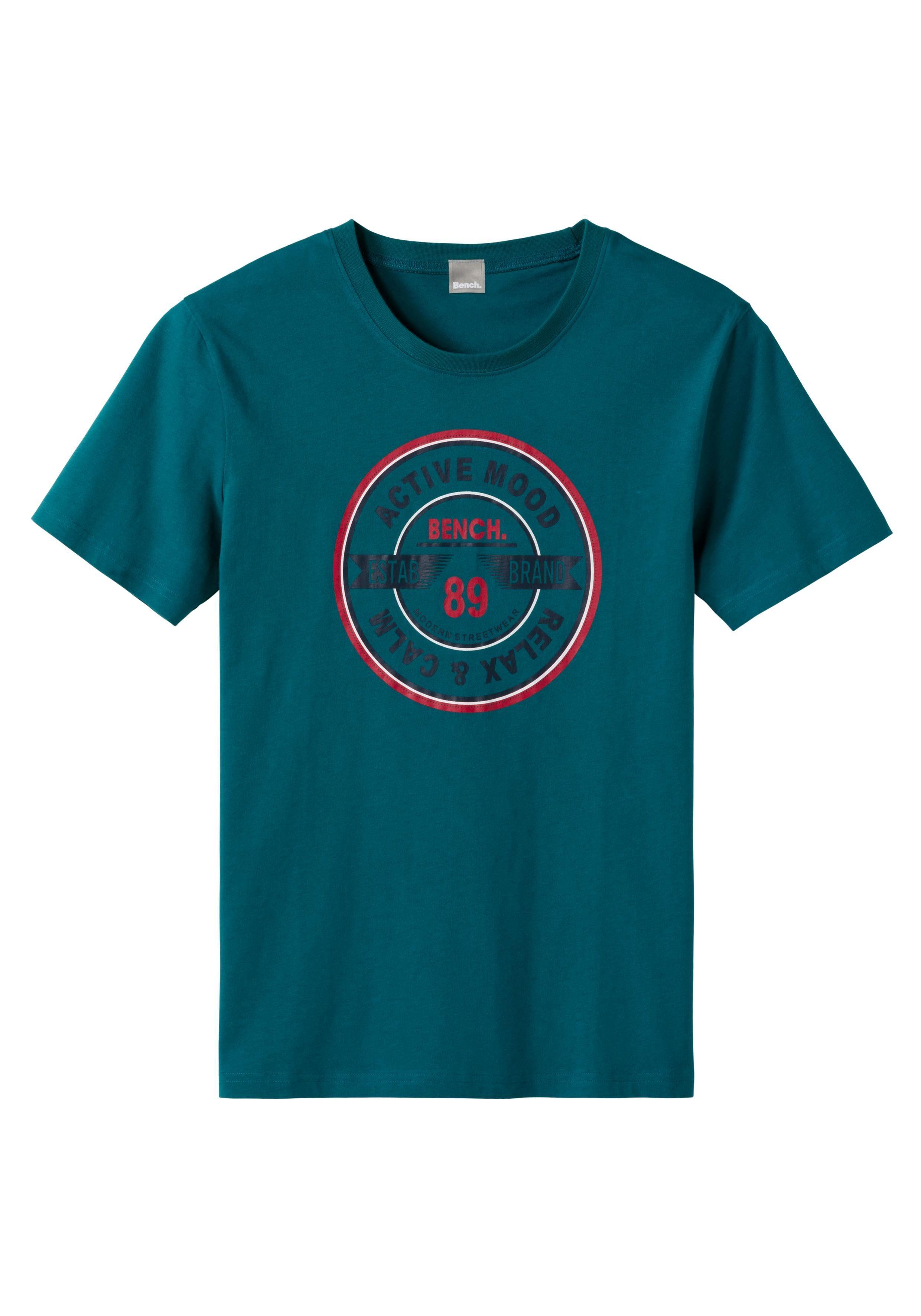 Modischem Mit shirt BenchT Frontprint Kaufen 4RA35jL