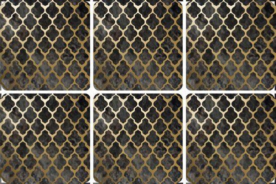 queence Getränkeuntersetzer GC0120-K4, Set, 6-tlg., aus Kunststoff