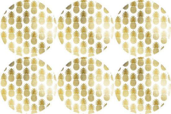 queence Getränkeuntersetzer GC0130-K4, Set, 6-tlg., aus Kunststoff