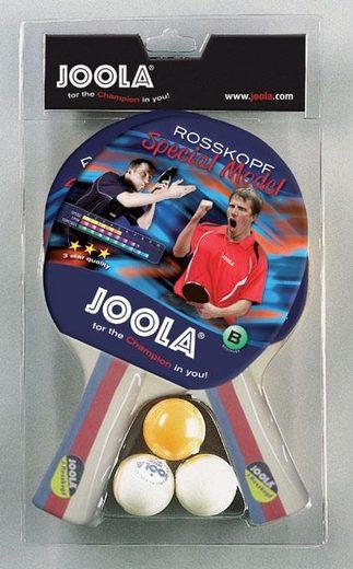 Joola Tischtennisschläger »Rossi« (Packung, 5-tlg., mit Bällen)