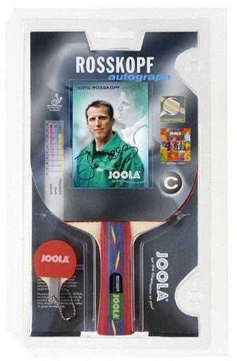 Joola Tischtennisschläger »Roßkopf Autograph« (Packung, 2 tlg., mit Schlüsselanhänger)