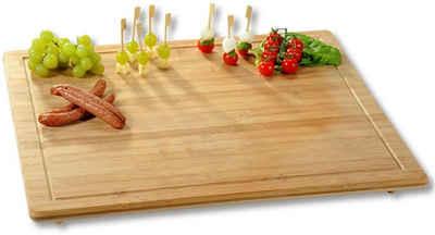 KESPER for kitchen & home Schneidebrett, Bambus, Gr. 56 x 50 cm