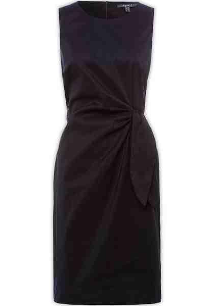 Esprit Collection Etuikleid mit asymmetrischen Bindebändern in der Taille