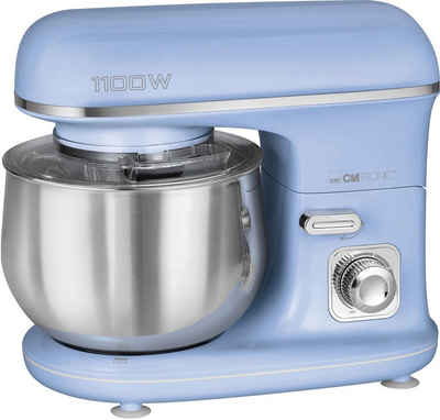 CLATRONIC Küchenmaschine KM 3711 blau, 1100 W, 5 l Schüssel