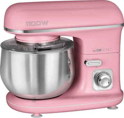 CLATRONIC Küchenmaschine KM 3711 pink, 1100 W, 5 l Schüssel