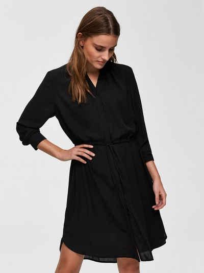 5092360ccd4 Selected Femme Loose Fit Kleid mit langen Ärmeln
