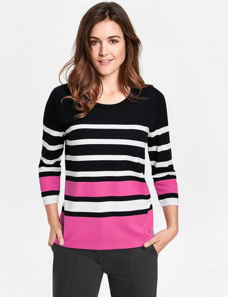 abe91508ebf747 GERRY WEBER T-Shirt 3 4 Arm »3 4 Arm Shirt mit Blockringel« online ...